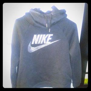 Black w/ Metallic Nike Hoodie